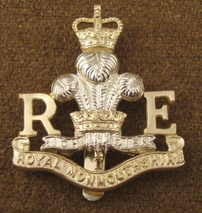 Monmouthshire Royal Engineers British Militia Badge