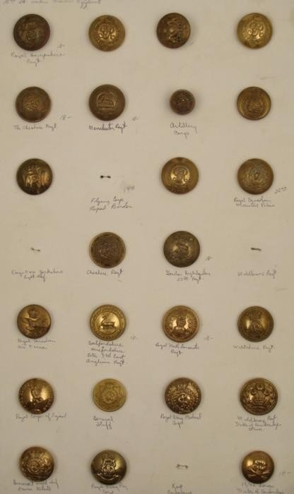 24 British Canadian Antique Military Button Collection
