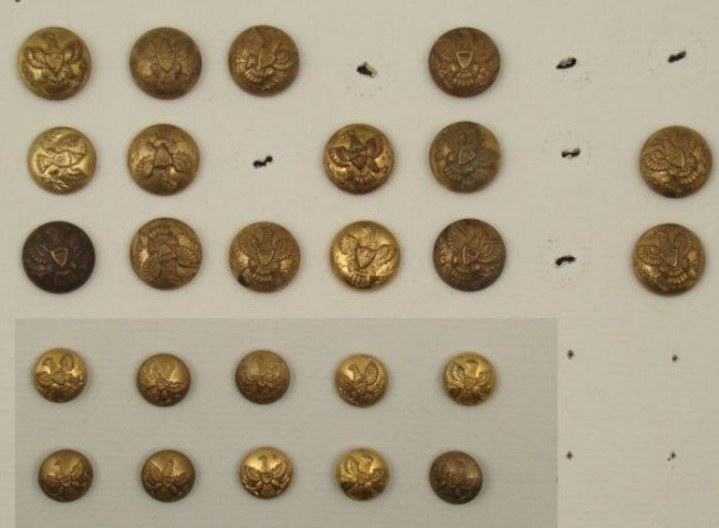 25 Indian Wars Buttons Antique Collection -Post 1872