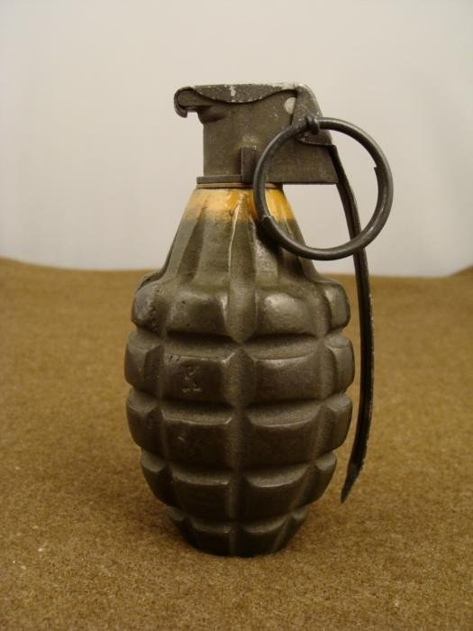 US Army/ Air Force Hand Grenade w/ Fuze WWII