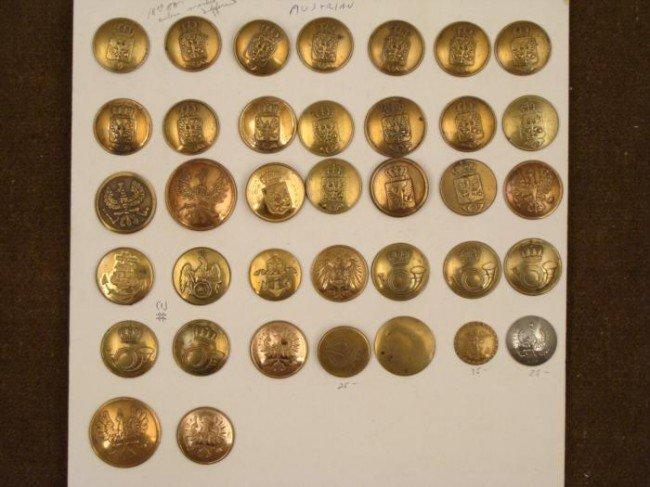 37 Antique Austrian Military Buttons