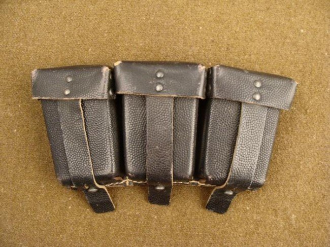 WWII German Leather Ammo Pouch Strong style RB-Nr