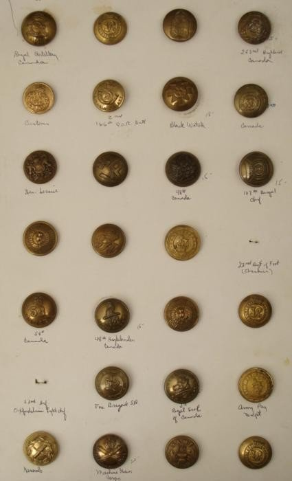 26 Canadian and British Antique Button Collection