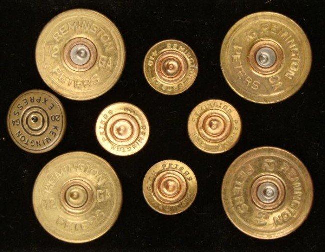 Remmington Bullet Ends Button Set of 8 in 12-20 GA Rare