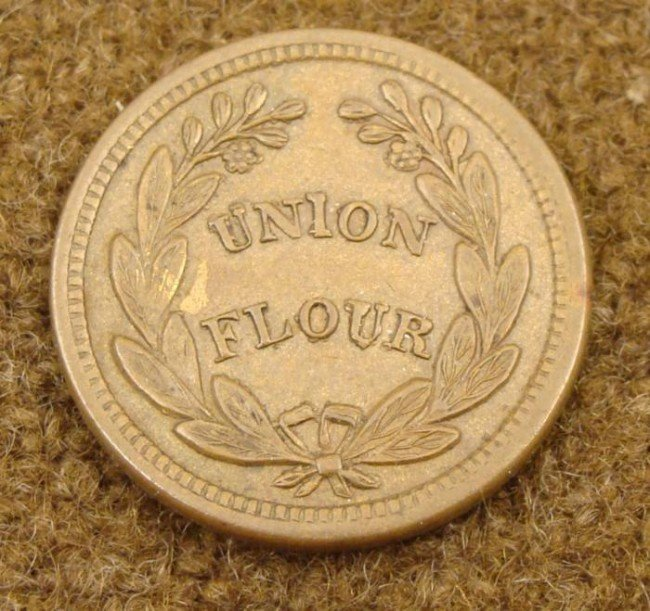 Civil War Token D.L. Wing & Co. Union Flour Albany N.Y.