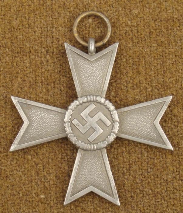 NAZI ORIGINAL WAR MERIT CROSS 2ND CLASS-NO RIBBON