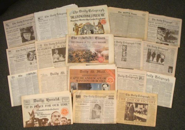 17 Great Newspapers Reprint Collection British 1822-