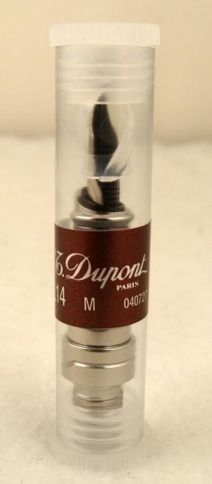 S.T. Dupont 18K White Gold Fountain Pen Nib # 040727