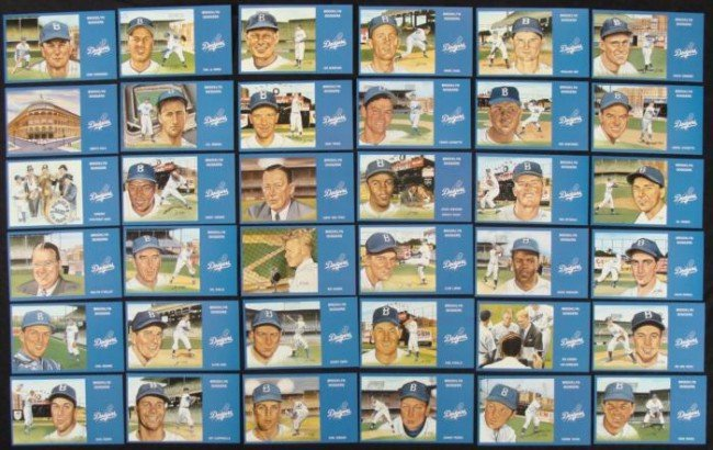 1988 Brooklyn Dodgers Postcards Set of 36 Cards MLB