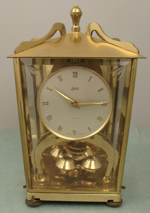 Schatz 400 Vintage Brass German Anniversary Shelf Clock