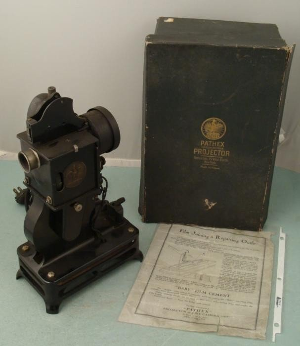 Pathex Movie Sound Projector Vintage 1920s France/ Box