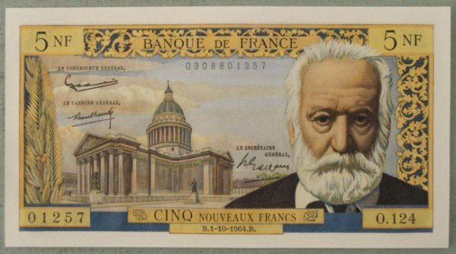 France Crisp Uncirculated 1964 5 Franc Note Bill CU