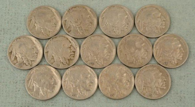 Very High Grade Buffalo Nickels 13 Coin Starter Set