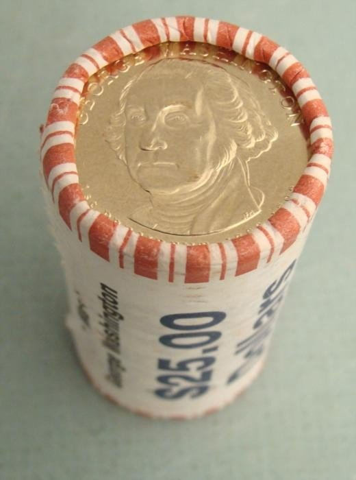 Roll Bank Wrap UNC 2007D Washington Presidential Dollar