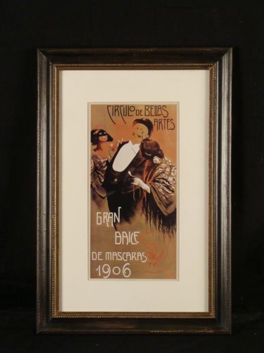 Print of Antique Spanish Poster Circulo de Bellas Artes