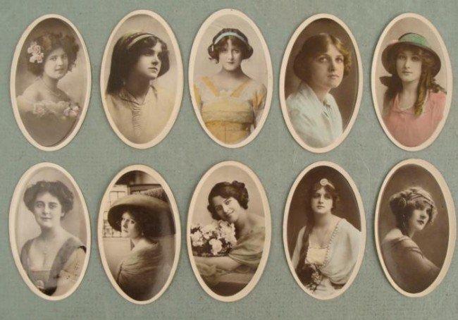 10 Pc Set Cigarette Cards Ladies Actresses Stars 1920s