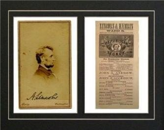 Abraham Lincoln Signature Presidential Election Ticket