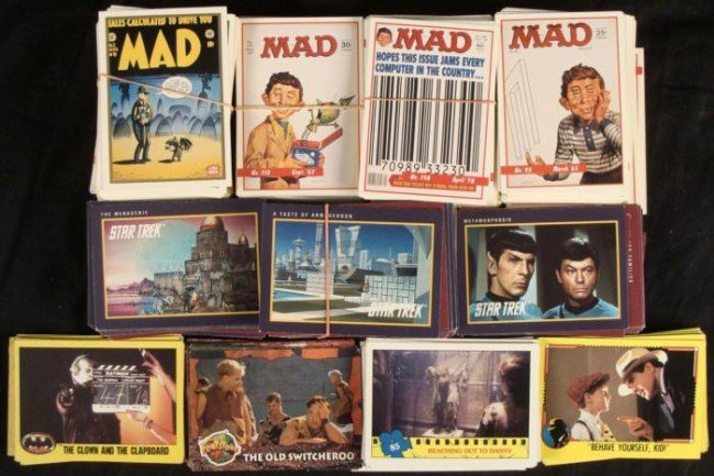 600+ Entertainment Trading Cards MAD Magazine Star Trek