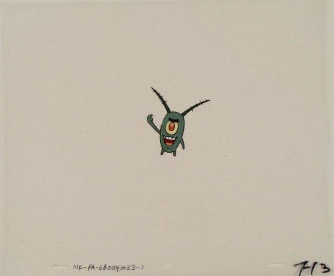 Cel Original SpongeBob Animation Plankton Big Smile