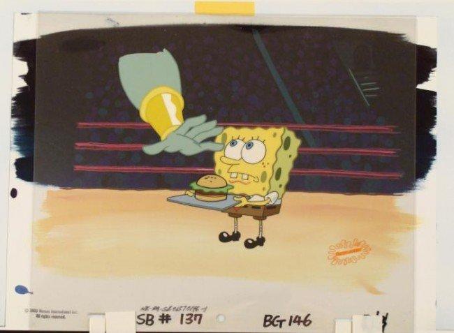 Taste Original Patty SpongeBob Animation Cel Background
