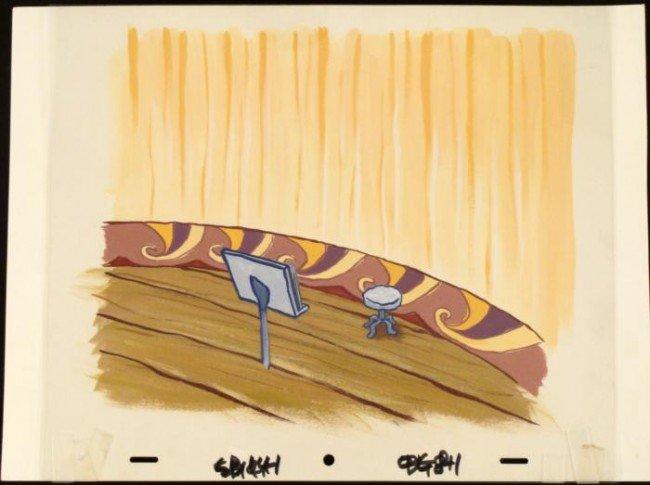 Animation Stool Art Original SpongeBob Background Cel