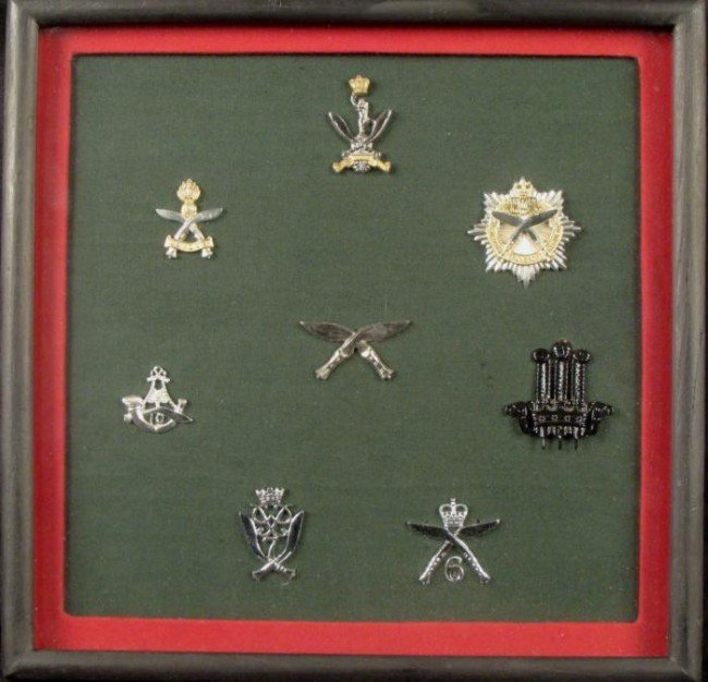 Brigade of Gurkha 8 Badge Collection Framed Engllish