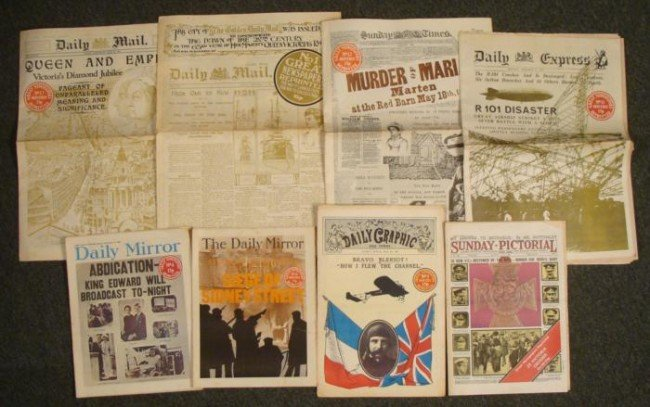 8 Great Newspapers Series Reprinted British History