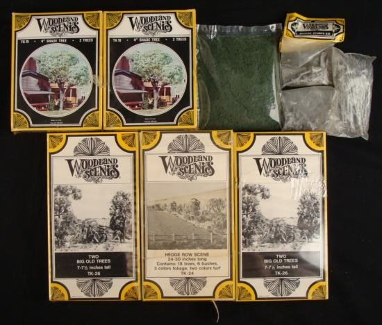 6+ N Scale Sets Trees, Hedge Row MIB Woodland Scenics
