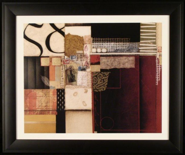 Foreign Travel Souvenir Abstract Collage Art Print Frmd