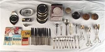 Vintage 50 pcs Stainless Serving Set Flatware Dishes