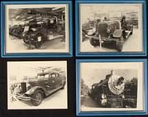 4 Antique Fire Truck Train Museum Photos 8x10 Framed