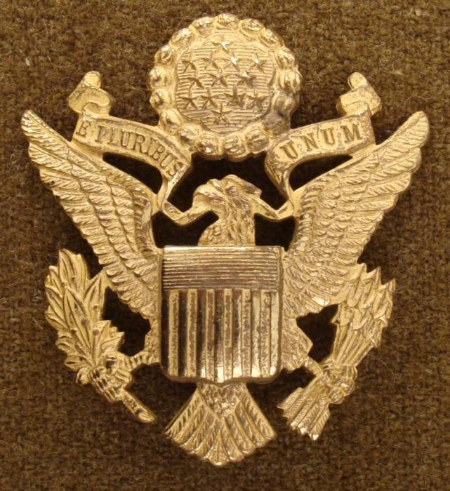 U.S. ARMY OFFICERS WWII VISOR CAP EAGLE-BEAUTIFUL GILT