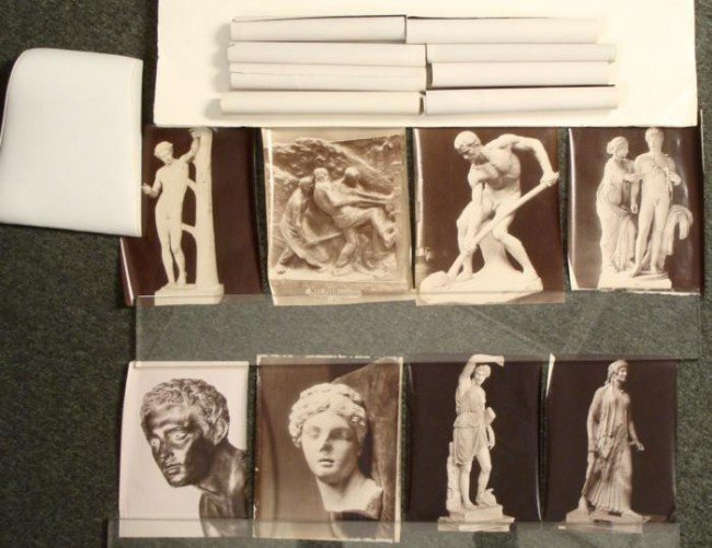 17) 8x10 PHOTOS WWII NAZI CONFISCATED ART-STAMPED PARIS