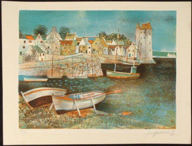 Claude Grosperrin Original Impressionist Signed Print
