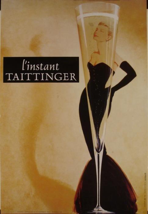 Grace Kelly Taittinger Champagne Advertising Art Poster