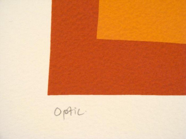 Denise Duplock Signed Print Optic Abstract Art - 2