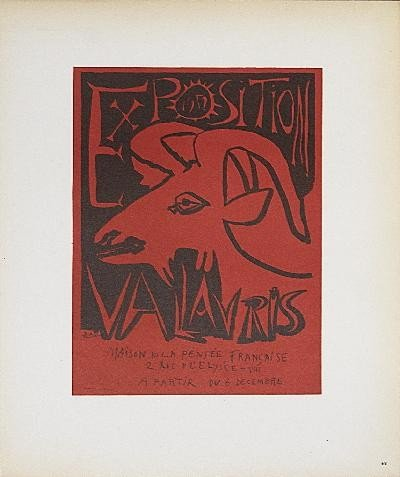 1959 Picasso Exposition Vallauris Lithograph