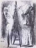 Picasso Le Peintre et son modele Mourlot Litho