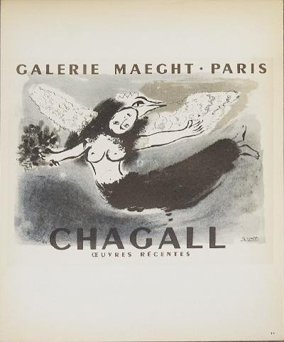 1959 Chagall Galerie Maeght Mourlot Lithograph