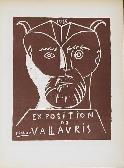 1959 Picasso Exposition Vallauris Mourlot Litho