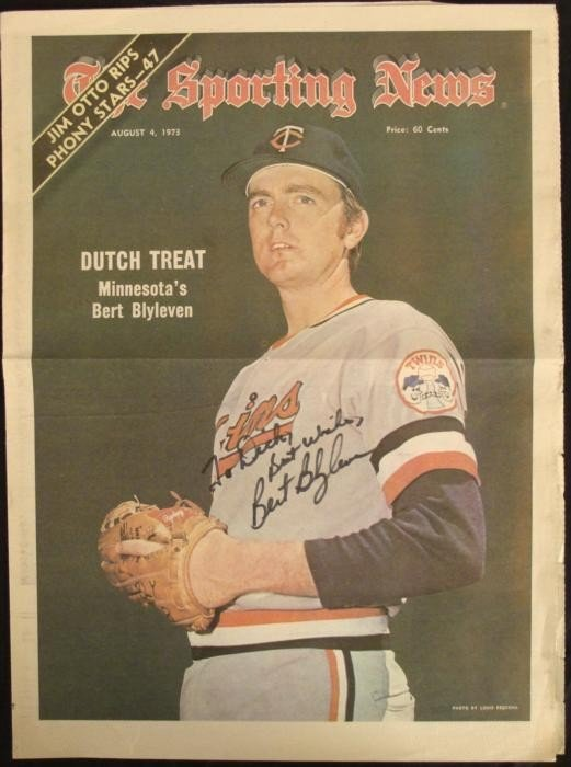 Vintage Bert Blyleven Sporting News Headline Clipping