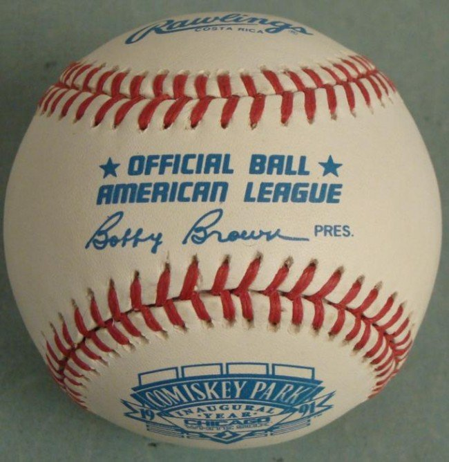 1991 Comiskey Park Inaugural Year Baseball White Sox