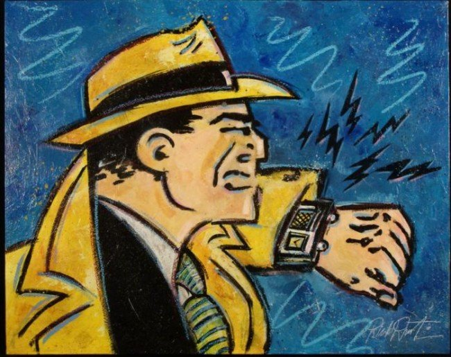 Duerrstein Original Painting Dick Tracy Comic Art