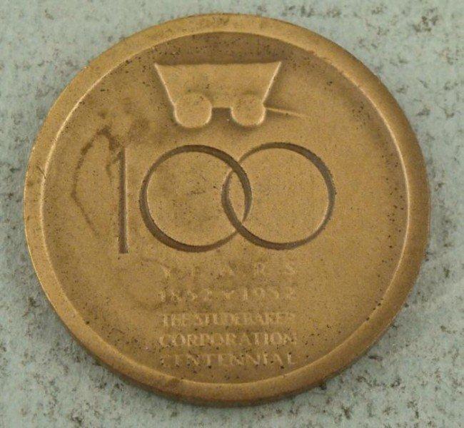 Studebaker Century 100 Years Bronze Medal ,Token 1952 - 2