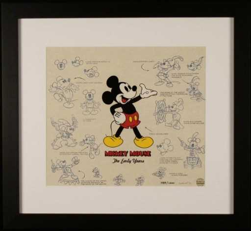 Mickey Mouse Disney Lumicel Framed Animation Art Cel