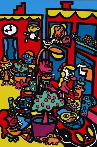 SOHO Colorful Dynamic Signed LE Pop Art Print MARCO