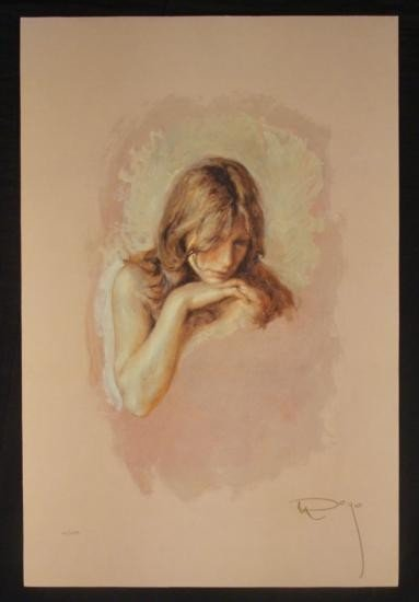 Jose Royo LE Art Print On Panel  Pensativa