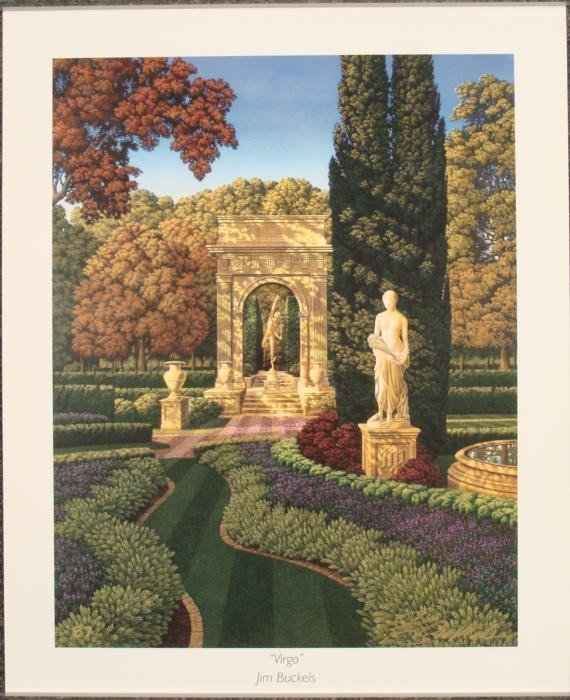 Jim Buckels Virgo Signed Zodiac Art Print