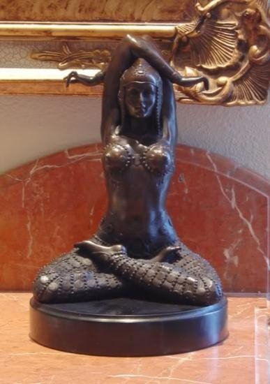 Exquisite Bronze Sculpture Yoga Pilates Nude Woman