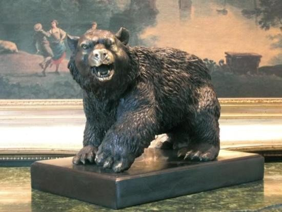Majestic Bronze Sculpture Trophy Black Bear
